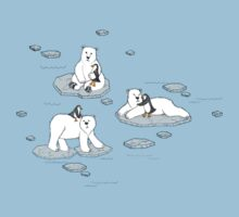 Polar Bear Loves Penguin Baby Tee