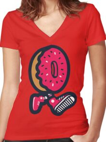 WeeklyDonut's Donut Women's Fitted V-Neck T-Shirt