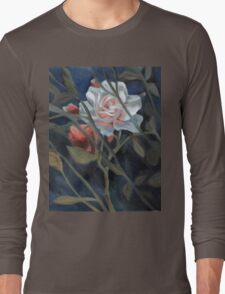 study of a rose in the back garden Long Sleeve T-Shirt