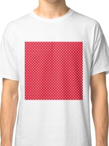 Red pattern with polka dots Classic T-Shirt
