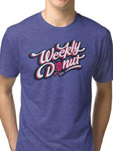 WeeklyDonut Podcast Logo Tri-blend T-Shirt