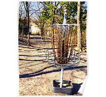 Disc Golf Basket Poster