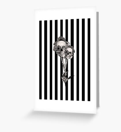 Gothic Youth Skulls with Poppies Greeting Card