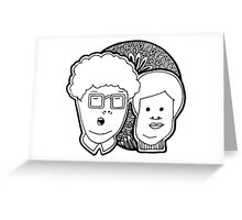 Boring Couple Greeting Card
