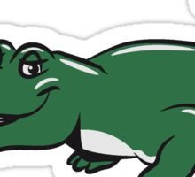 funny weed crocodile natural joint Sticker