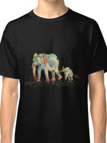 Colorful Elephant Family Classic T-Shirt