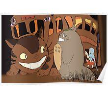 My Neighbour Totoro scene Catbus Poster