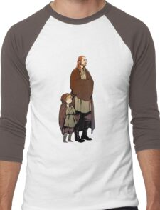 Qui Gon and Padawan Men's Baseball ¾ T-Shirt