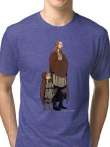 Qui Gon and Padawan Tri-blend T-Shirt