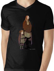 Qui Gon and Padawan Mens V-Neck T-Shirt