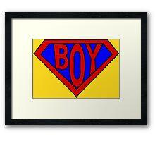 Hero, Heroine, Superhero, Super Boy Framed Print