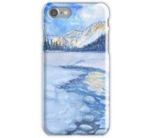 Winter mountain landscape. watercolor iPhone Case/Skin