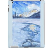 Winter mountain landscape. watercolor iPad Case/Skin