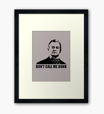 Downton Abbey Donk Robert Crawley Tshirt Framed Print