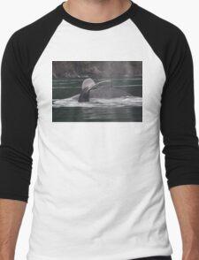 Humpback Whales in Motion Men's Baseball ¾ T-Shirt