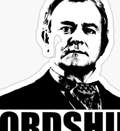 Downton Abbey Lordship Robert Crawley Tshirt Sticker
