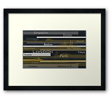 Chicago. Gold Framed Print
