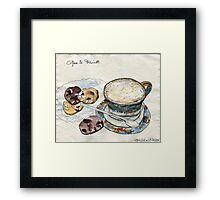Coffee & Biscuits Framed Print