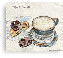 Coffee & Biscuits Metal Print