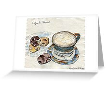 Coffee & Biscuits Greeting Card