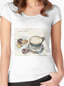 Coffee & Biscuits Women's Fitted Scoop T-Shirt
