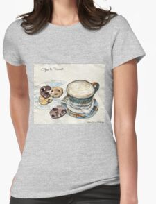 Coffee & Biscuits Womens Fitted T-Shirt