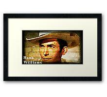 Hank Williams Wall Art Framed Print