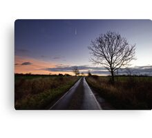 Country Road Sunrise Canvas Print