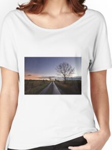 Country Road Sunrise Women's Relaxed Fit T-Shirt