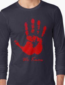 Skyrim Dark Brotherood Long Sleeve T-Shirt