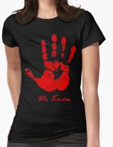 Skyrim Dark Brotherood Womens Fitted T-Shirt