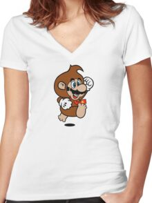 Kong Suit Women's Fitted V-Neck T-Shirt