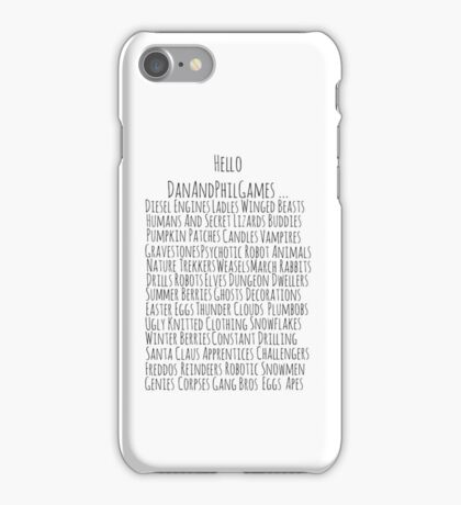 DanAndPhilGames iPhone Case/Skin
