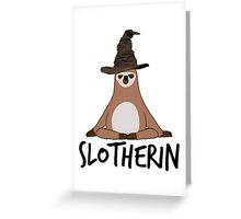 Slotherin Greeting Card