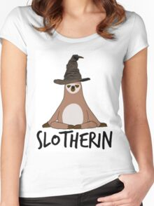 Slotherin Women's Fitted Scoop T-Shirt