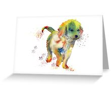 Colorful Puppy - Little Friend Greeting Card