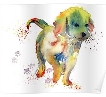 Colorful Puppy - Little Friend Poster