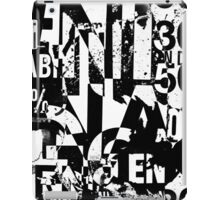 Black and white collage texture paper iPad Case/Skin