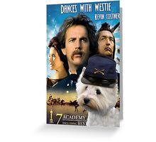 West Highland White Terrier Art - Dances with Wolves Movie Poster Greeting Card