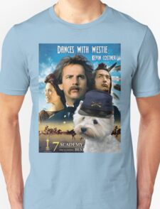 West Highland White Terrier Art - Dances with Wolves Movie Poster T-Shirt