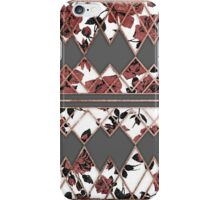 Pretty Rustic Roses and Rose Gold Geo Triangles iPhone Case/Skin