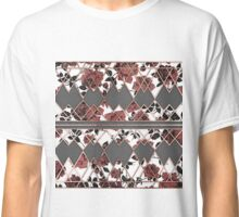 Pretty Rustic Roses and Rose Gold Geo Triangles Classic T-Shirt