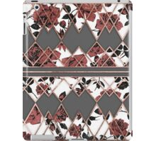 Pretty Rustic Roses and Rose Gold Geo Triangles iPad Case/Skin