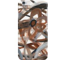 Brown Intertwining Flowers iPhone Case/Skin