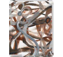 Brown Intertwining Flowers iPad Case/Skin