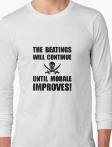 Beatings Morale Improve Long Sleeve T-Shirt