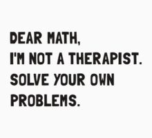 Dear Math by TheBestStore