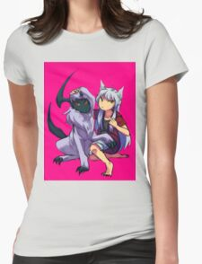 Inuyasha with Absol Womens Fitted T-Shirt
