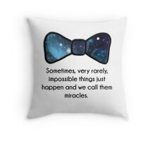 Impossible things happen Throw Pillow