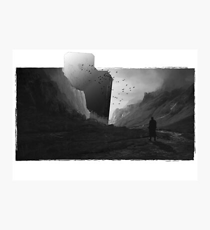 Dark light Fighter against mystery Photographic Print